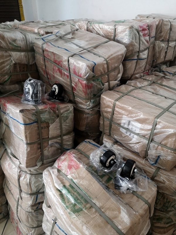 bulk shipments of caster wheels collected into our prep center in Yiwu China