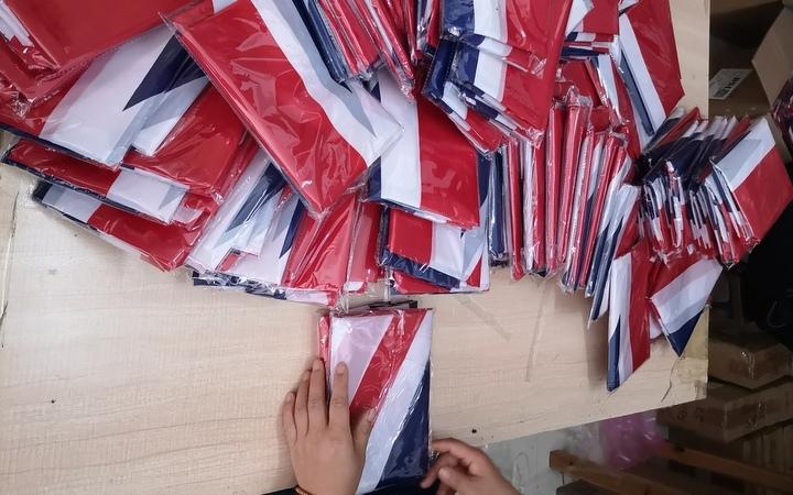 China prep center inspecting flags for amazon / ebay seller