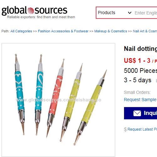 pink nail art tool kit on globalsources