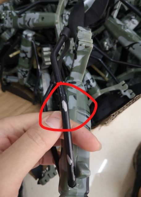 defective-slingshots-picked-out-in-China-prep-center