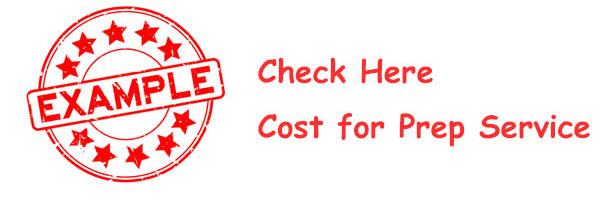 Cost for Prep Service